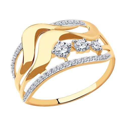 Кольцо из золота с фианитами 017505 SOKOLOV фото