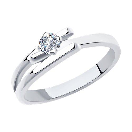 Кольцо из белого золота с бриллиантом (1011913) - фото