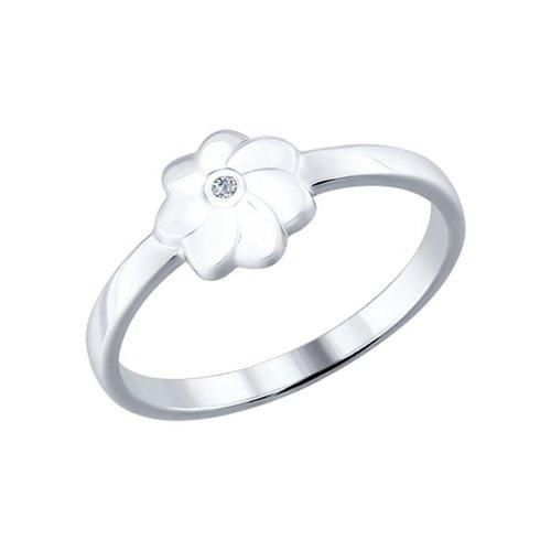 Кольцо SOKOLOV из серебра с бриллиантом
