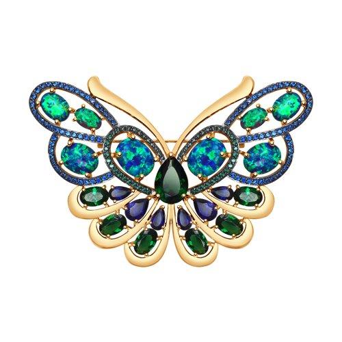 Брошь в форме бабочки SOKOLOV из золота цена и фото