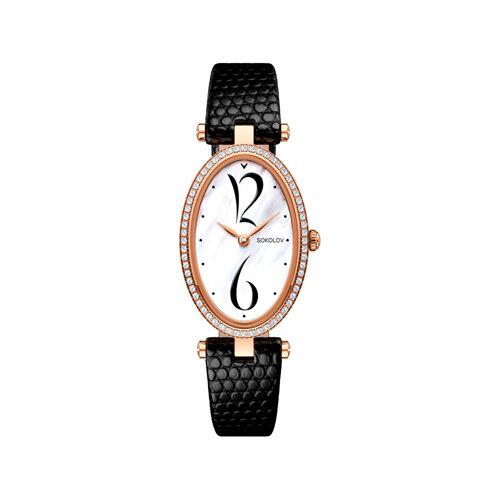 Женские золотые часы (236.01.00.100.05.01.2) - фото №2