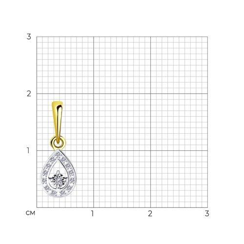 Подвеска из комбинированного золота с бриллиантами 1030782-2 SOKOLOV фото 2