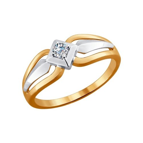 Кольцо из золота с бриллиантом (1011453) - фото