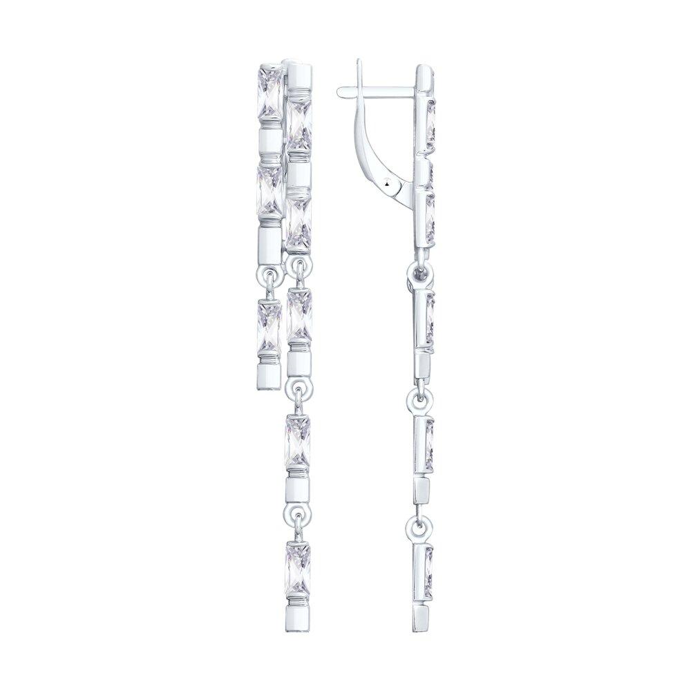 Длинные серебряные серьги с фианитами SOKOLOV длинные серебряные серьги с фианитами sokolov