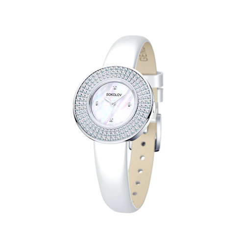 Женские серебряные часы (128.30.00.001.01.02.2) - фото