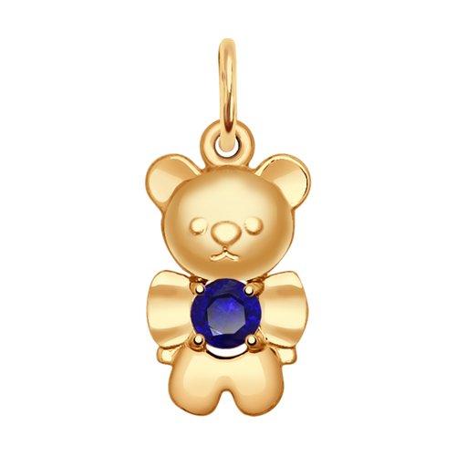 Подвеска «Медвежонок» из золота