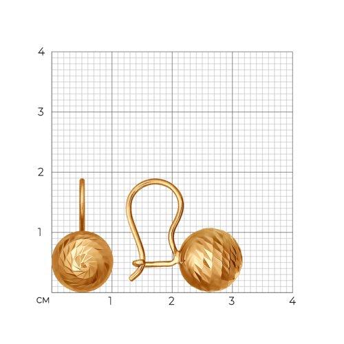 Серьги из золота (026754) - фото №2