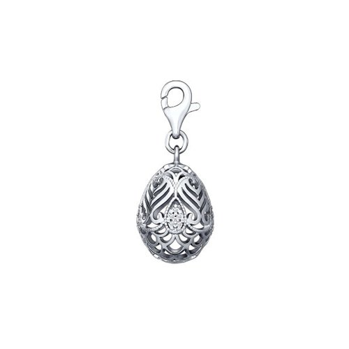 цена на Подвеска «Пасхальное резное яйцо» SOKOLOV из серебра