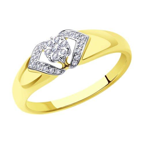 Кольцо из комбинированного золота с бриллиантами 1011478-2 SOKOLOV фото