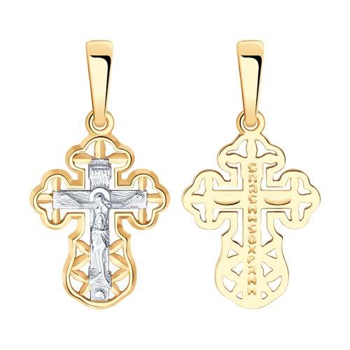 Подвеска- крест из золота 121407 sokolov фото
