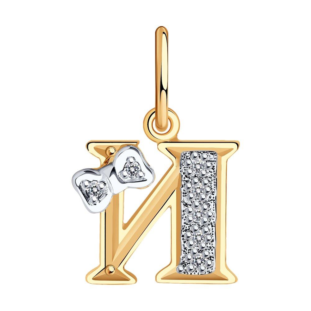 Фото - Золотая подвеска-буква «И» SOKOLOV золотая подвеска буква и sokolov
