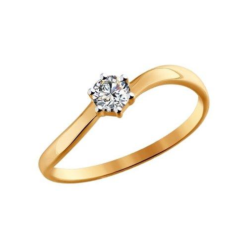 Помолвочное кольцо из золота со Swarovski Zirconia (81010212) - фото