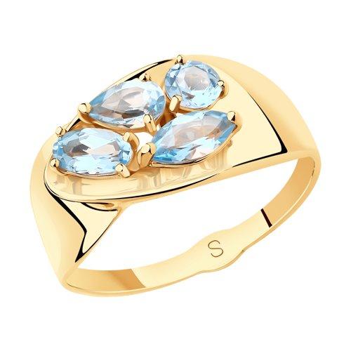 Кольцо из золота с топазами (715553) - фото