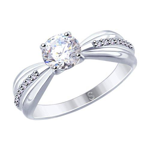 Кольцо из серебра со Swarovski Zirconia 89010109