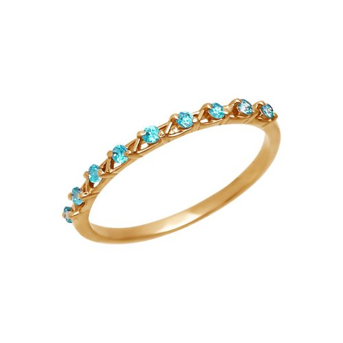 Золотое кольцо с зелёными фианитами SOKOLOV золотое кольцо ювелирное изделие 01k664882