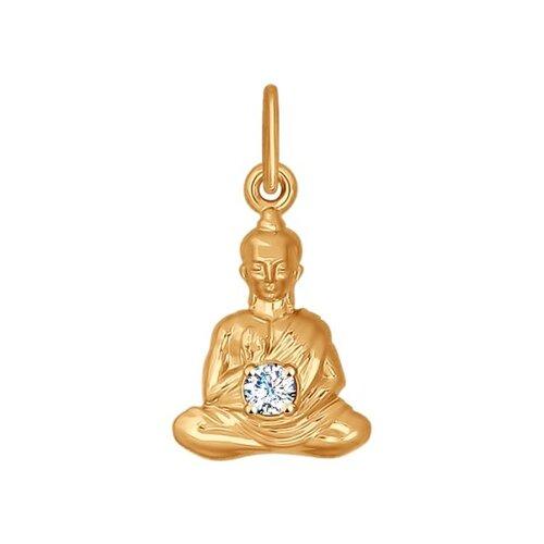 Золотая подвеска «Будда»  (034911) - фото