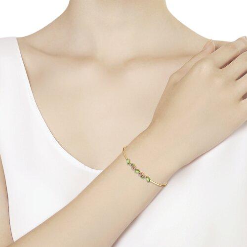 Браслет из золота с фианитами Swarovski (81050037) - фото №2