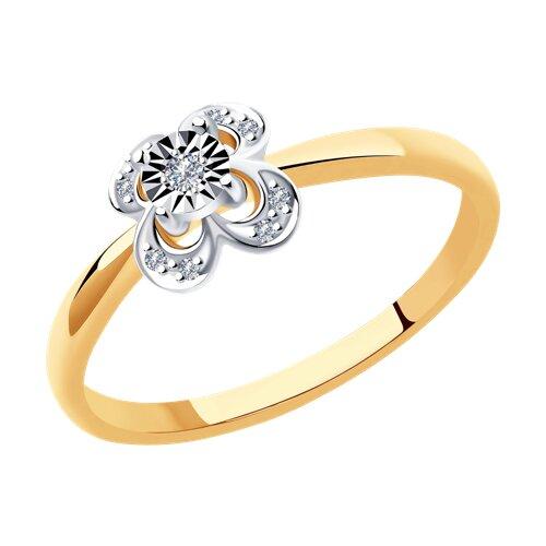 Кольцо из золта с бриллиантами (1011969) - фото