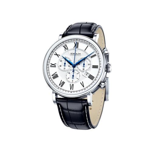 Мужские серебряные часы (125.30.00.000.01.01.3) - фото
