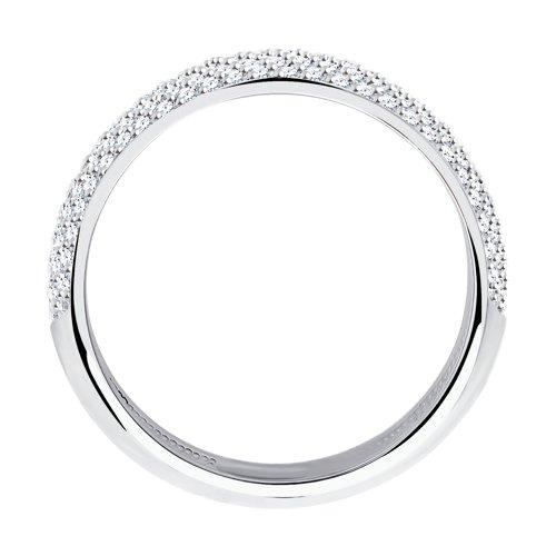 Кольцо из белого золота с бриллиантами 1010256 SOKOLOV фото 2