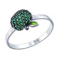 Кольцо из серебра «Яблочко»