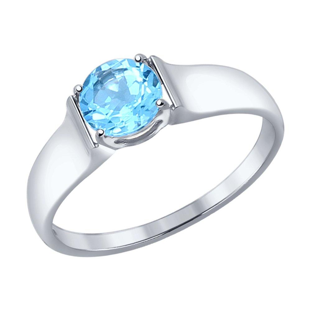 Фото - Кольцо SOKOLOV из белого золота с топазом maya gemstones кольцо из белого золота с топазом из коллекции secret garden