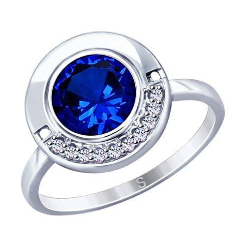 Кольцо из серебра с фианитами (94012905) - фото