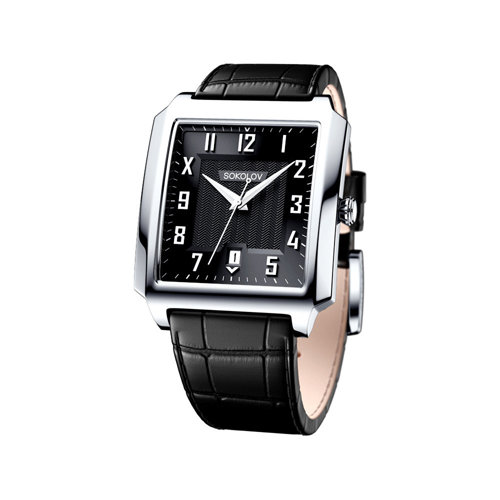 Мужские серебряные часы (134.30.00.000.05.01.3) - фото
