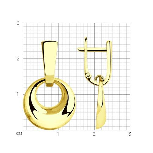 Серьги из желтого золота 028394-2 SOKOLOV фото 2