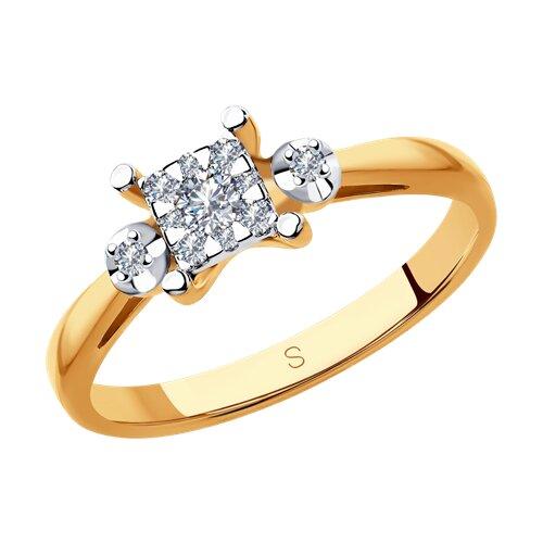 Кольцо из комбинированного золота с бриллиантами 1011870 SOKOLOV фото