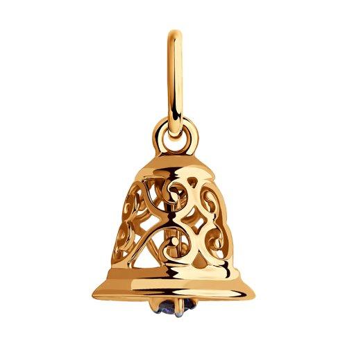 Подвеска из золота с фианитом (035759) - фото