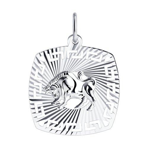 Подвеска «Знак зодиака Телец» из серебра (94030859) - фото