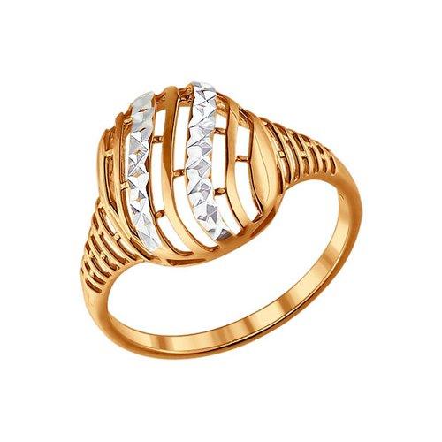 Кольцо SOKOLOV из золочёного серебра с алмазной гранью