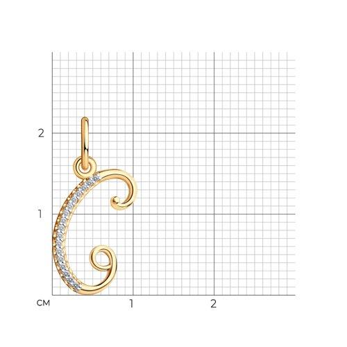Подвеска-буква «С» из золота (034540) - фото №2