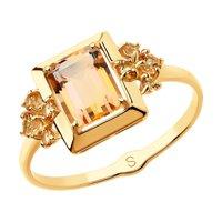 Кольцо из золота с топазами Swarovski