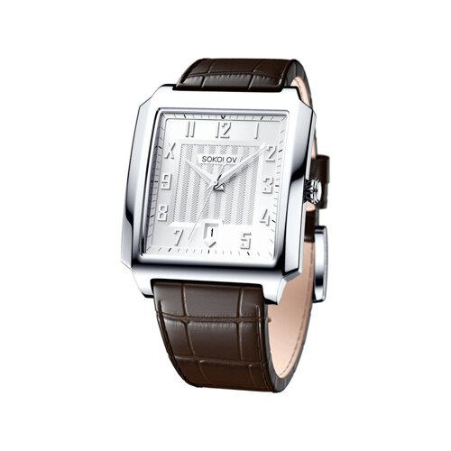 Мужские серебряные часы (134.30.00.000.03.03.3) - фото