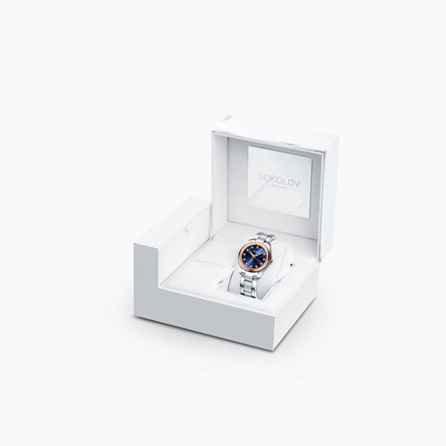 Женские часы из золота и стали (140.01.71.000.05.01.2) - фото №4