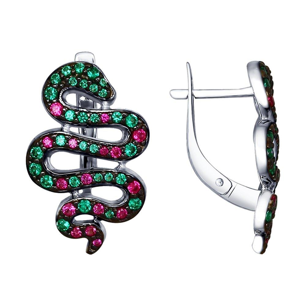 Серебряные серьги «Змеи» SOKOLOV