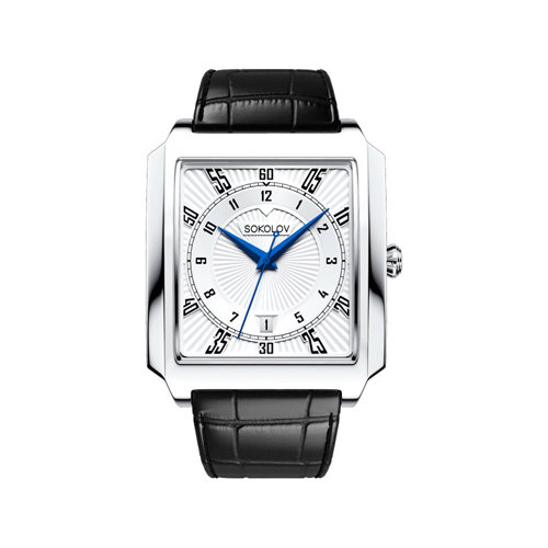 Мужские серебряные часы (134.30.00.000.08.01.3) - фото №2