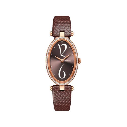 Женские золотые часы с бриллиантами (236.01.00.100.07.07.2) - фото №2