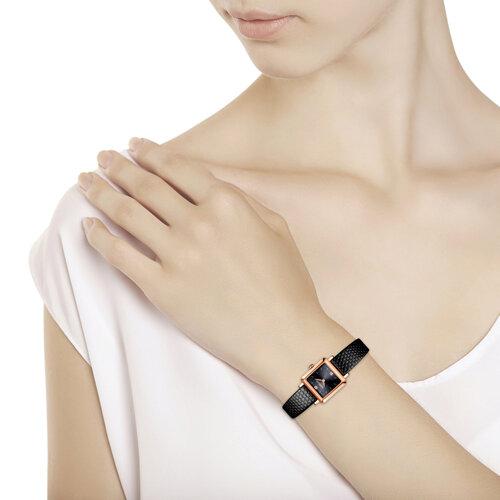 Женские золотые часы (231.01.00.000.07.01.2) - фото №3