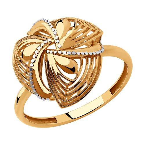 Кольцо из золота (018257) - фото