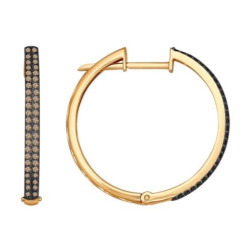 Круглые серьги из золота  (1021153) - фото