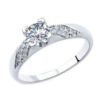 Кольцо из серебра со Swarovski Zirconia