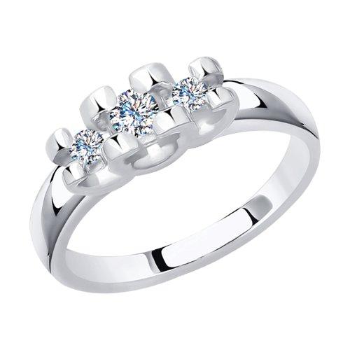 Кольцо из белого золота с бриллиантами (1011672) - фото