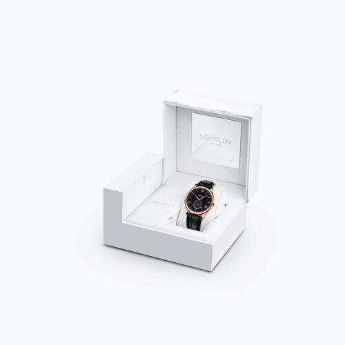 Мужские золотые часы (237.01.00.000.02.01.3) - фото №4