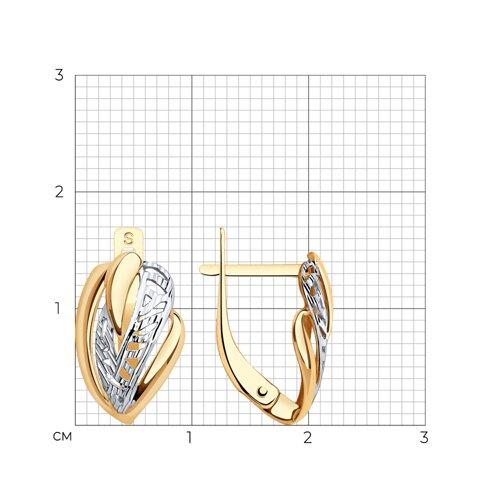 Серьги из золота с алмазной гранью (027517) - фото №2