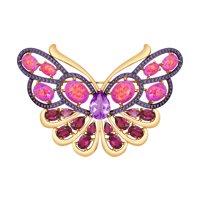 Золотая брошь «Бабочка»