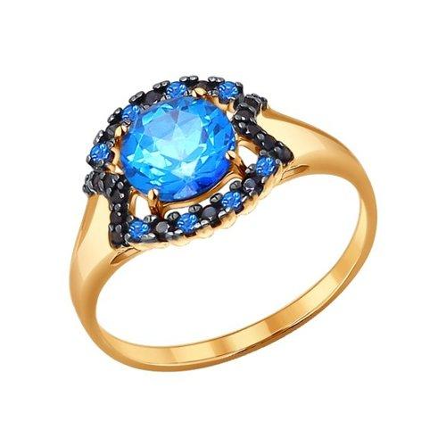 Золотое кольцо с топазами Swarovski SOKOLOV золотое кольцо ювелирное изделие k 11013