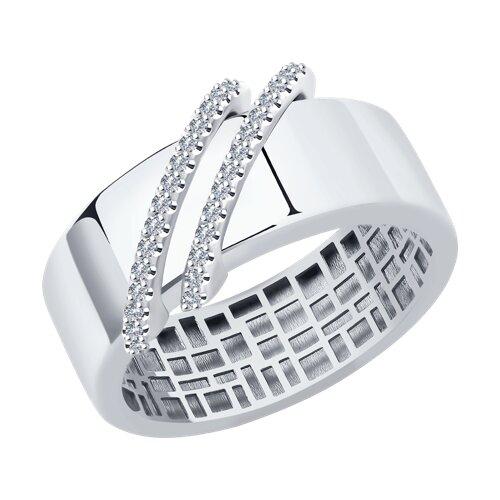 Кольцо из белого золота с бриллиантами 1011975-3 SOKOLOV фото
